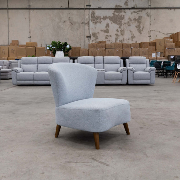 Leah Accent Chair – Sky - Warehouse Furniture Clearance