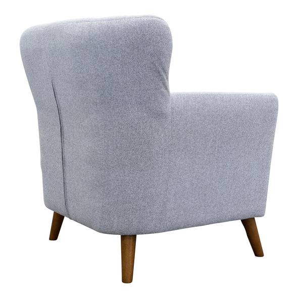 Lennon Accent Chair – Silver - Warehouse Furniture Clearance