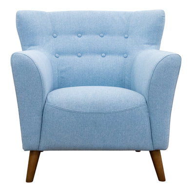 Lennon Accent Chair – Sky - Warehouse Furniture Clearance