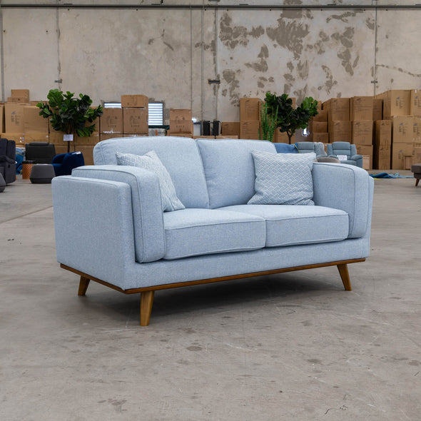 Lexington Two Seater - Sky - Warehouse Furniture Clearance