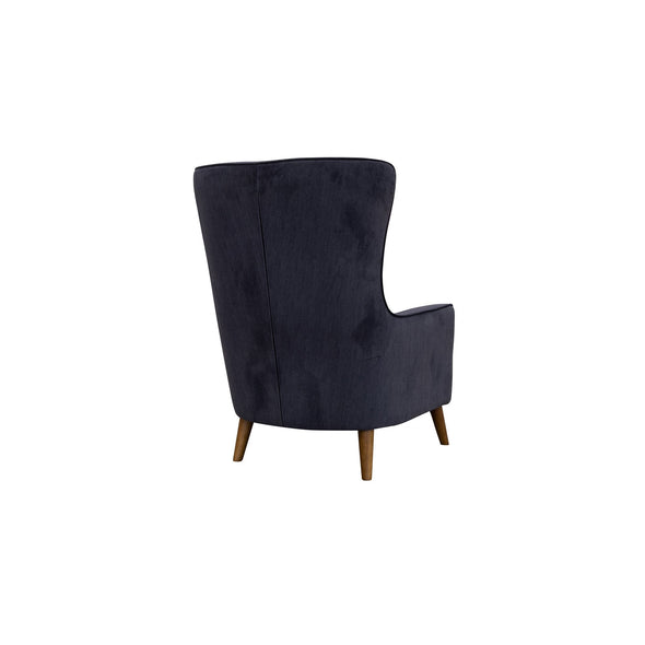 Lily Accent Chair - Ebony - Warehouse Furniture Clearance