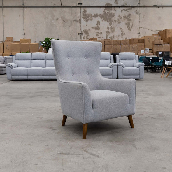 Lily Accent Chair - Haze - Warehouse Furniture Clearance