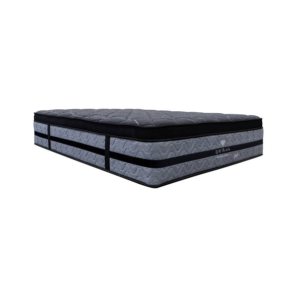 Lux Black Double Mattress - Medium - Warehouse Furniture Clearance