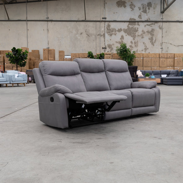 Maine Three Seat Recliner - Ash - Warehouse Furniture Clearance