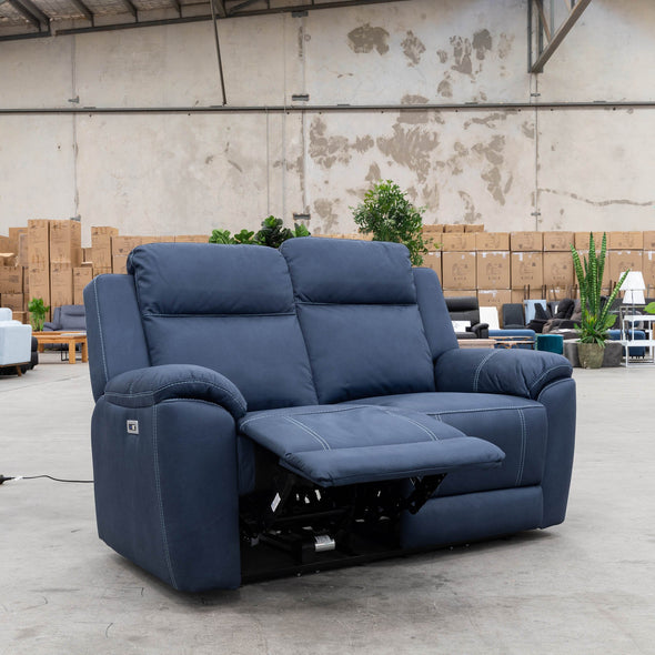 Marco Electric Two Seater - Navy - Warehouse Furniture Clearance