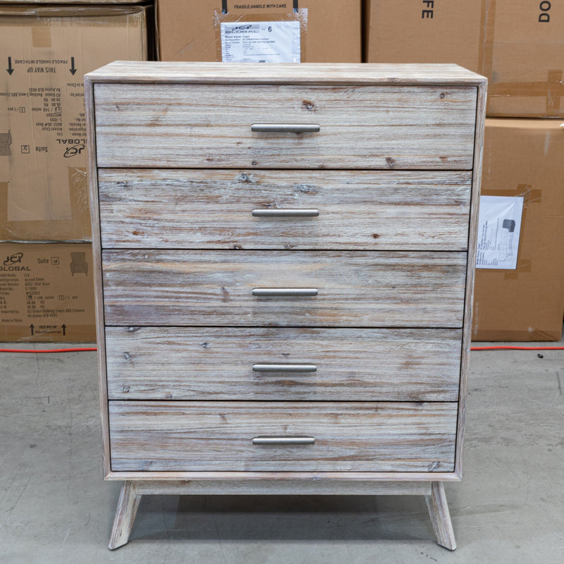 Marcoola Hardwood Tallboy - MKII - Warehouse Furniture Clearance