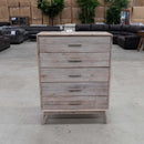 Marcoola Tallboy – Light Grey - Warehouse Furniture Clearance