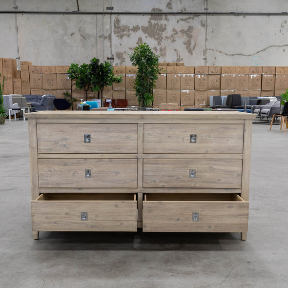 Mexico 6 Draw Dresser - Warehouse Furniture Clearance