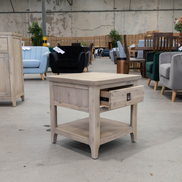 Mexico Hardwood Lamp Table - Warehouse Furniture Clearance