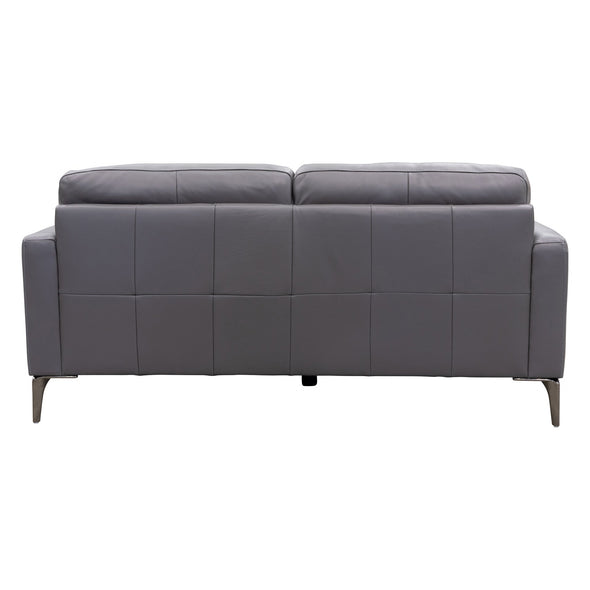 Moran Leather Two Seater - Charcoal - Warehouse Furniture Clearance