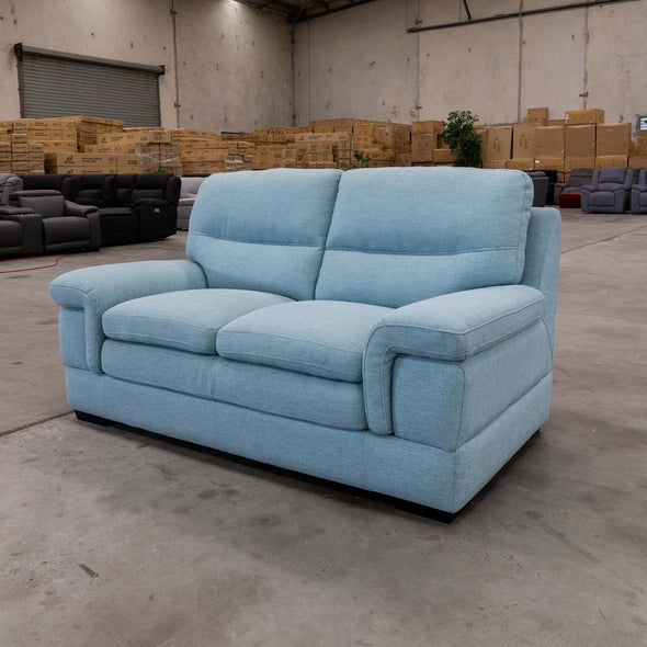 Moreton Two Seater - Sky - Warehouse Furniture Clearance