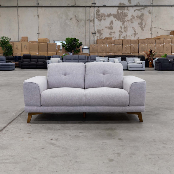 Norman Two Seater - Silver - Warehouse Furniture Clearance