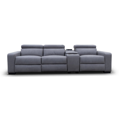 Omnia Electric Reclining Three Seater Theatre Lounge - Ash - Warehouse Furniture Clearance