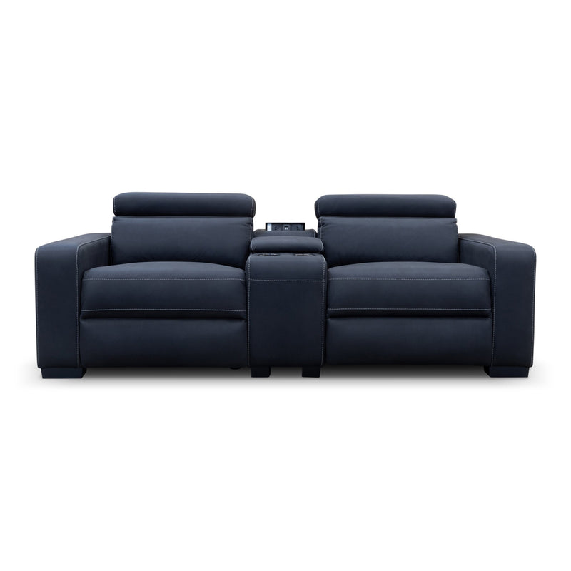 Omnia Electric Reclining Two Seater Lounge - Jet - Warehouse Furniture Clearance