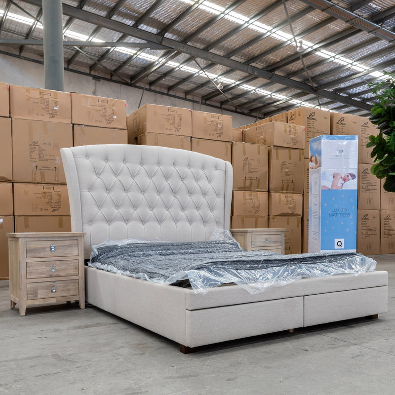 Opulent 5 Zone Pocket Coil Mattress In A Box - King - Warehouse Furniture Clearance