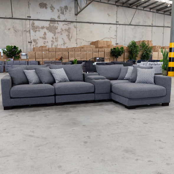 Paige Reversible Chaise Lounge - Iron - Warehouse Furniture Clearance