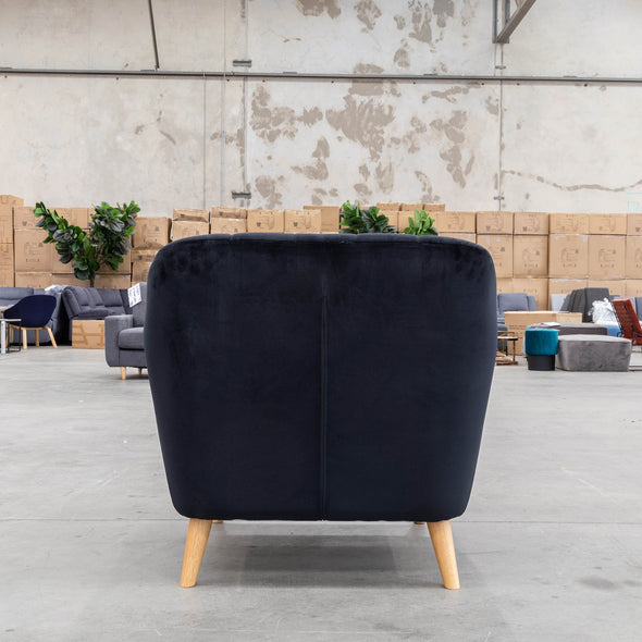 Pearl Accent Chair - Black Future Velvet - Warehouse Furniture Clearance