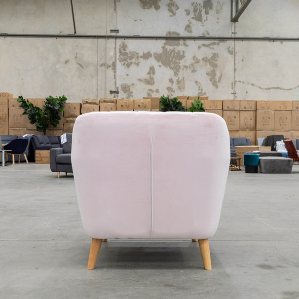 Pearl Accent Chair - Decker Pink Velvet - Warehouse Furniture Clearance