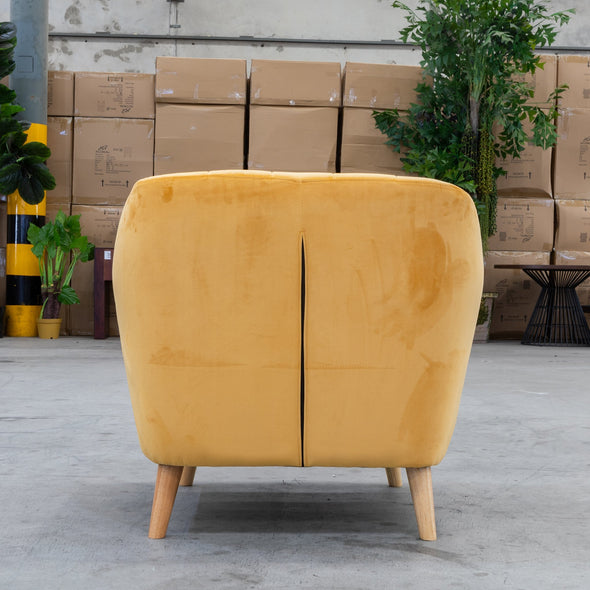 Pearl Accent Chair - Mustard Future Velvet - Warehouse Furniture Clearance