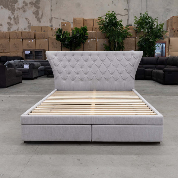Rose King Bed - Stone - Warehouse Furniture Clearance