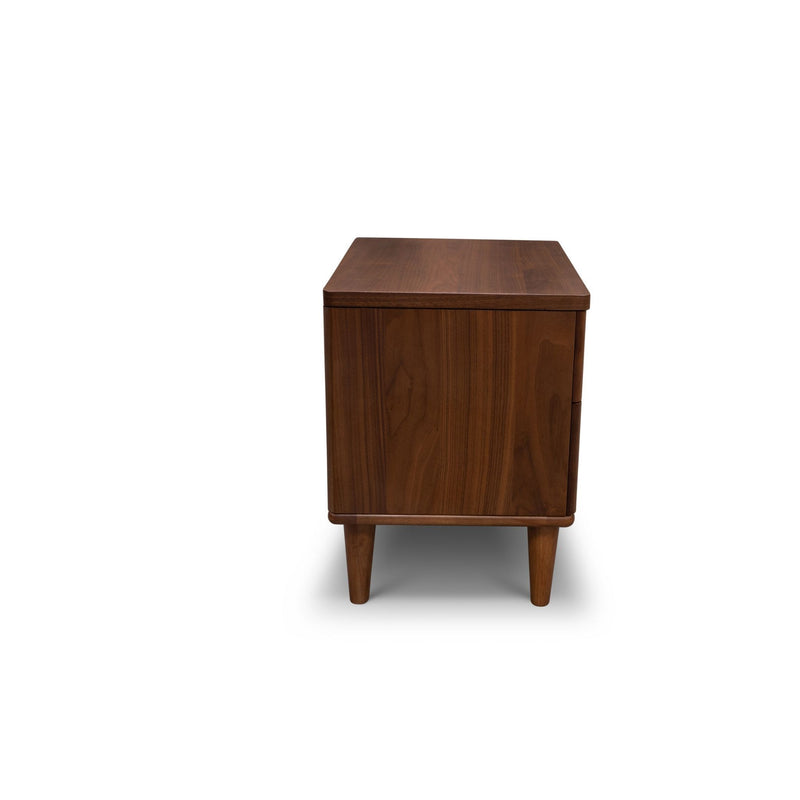 Scala Hardwood Bedside – Walnut - Warehouse Furniture Clearance