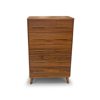 Scala Hardwood Tallboy – Walnut - Warehouse Furniture Clearance
