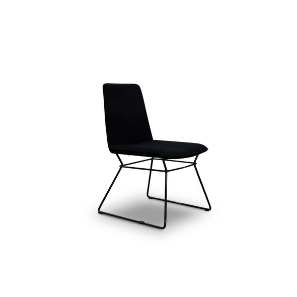 Scoop Chair Cashmere - Black - Warehouse Furniture Clearance