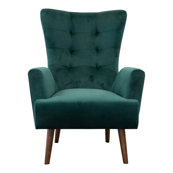Sebastian Accent Chair – Green Velvet - Warehouse Furniture Clearance