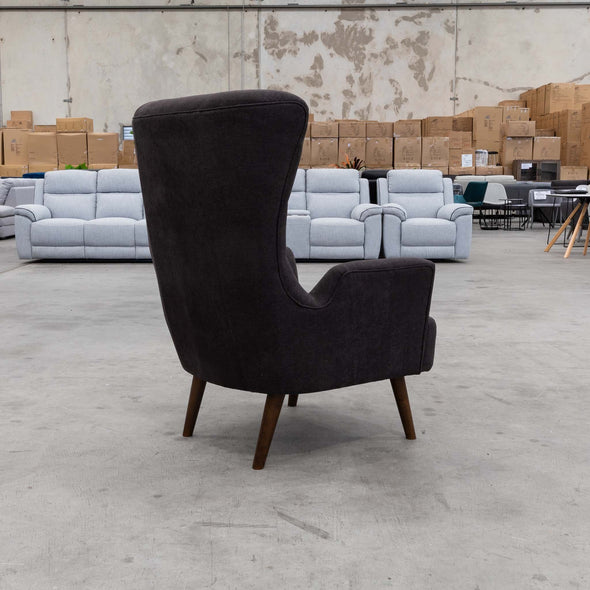Sebastian Accent Chair – Licorice - Warehouse Furniture Clearance