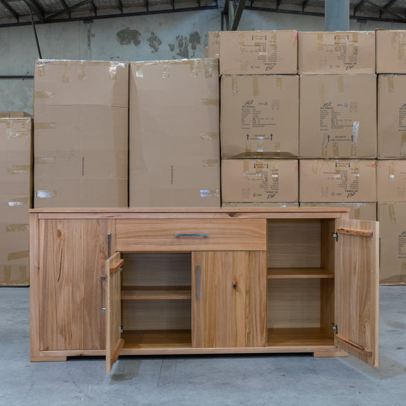 Seville Messmate Hardwood Buffet - Warehouse Furniture Clearance