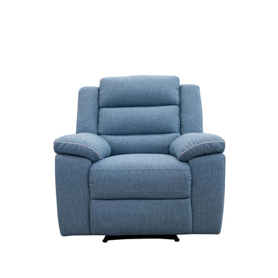 Tabac Single Recliner - Denim - Warehouse Furniture Clearance