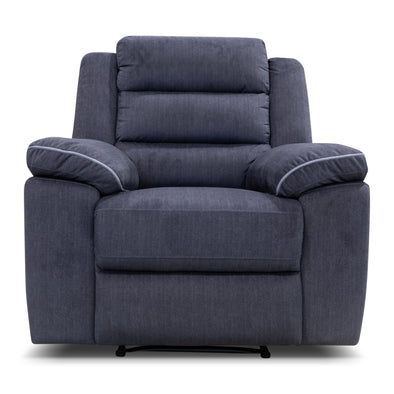 Tabac Single Recliner - Ebony Velvet - Warehouse Furniture Clearance