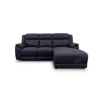 Venus Electric Chaise Lounge - Jet - Warehouse Furniture Clearance