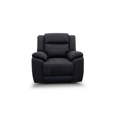 Venus Electric Recliner - Jet - Warehouse Furniture Clearance