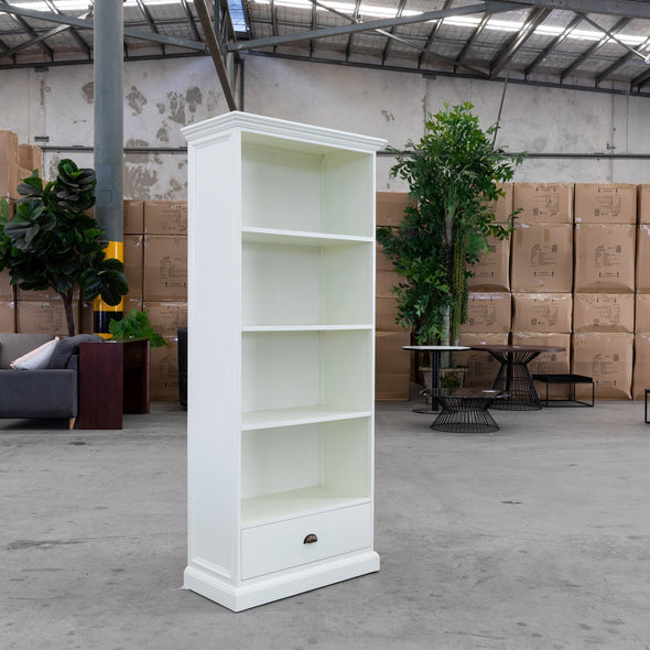 White Wash Bookcase - WW-LBC - Warehouse Furniture Clearance