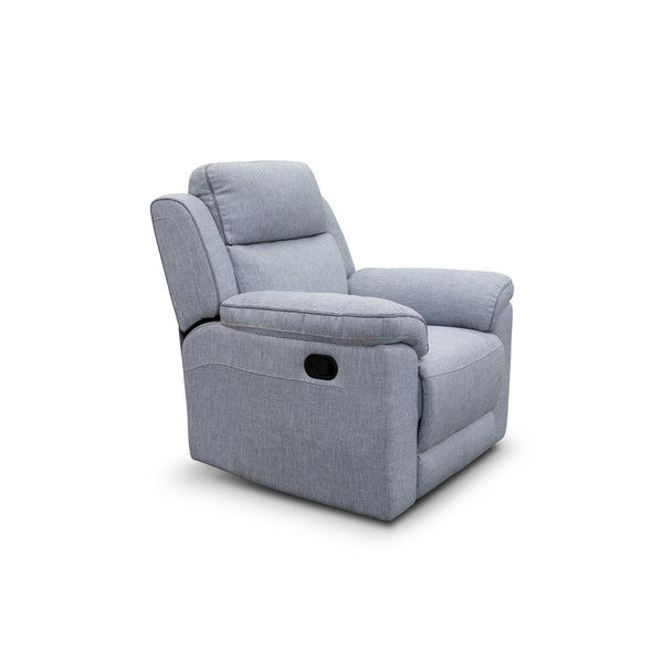 Yarra Recliner – Flint Grey - Shadow Piping - Warehouse Furniture Clearance