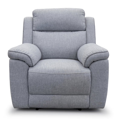 Yarra Single Recliner – Flint Grey - Shadow Piping - Warehouse Furniture Clearance