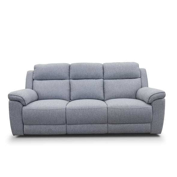 Yarra Three Seater Recliner Lounge – Flint Grey - Shadow Piping - Warehouse Furniture Clearance