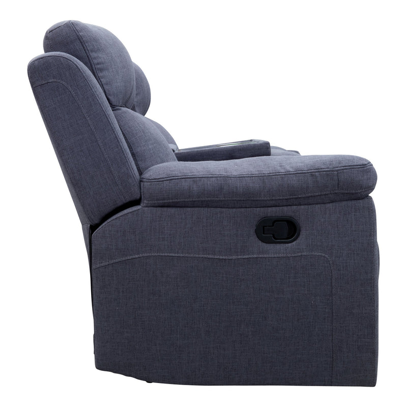 Yarra Three Seater Recliner Lounge – Fossil - Warehouse Furniture Clearance