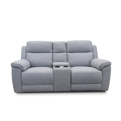 Yarra Two Seater Recliner Lounge – Flint Grey - Shadow Piping - Warehouse Furniture Clearance