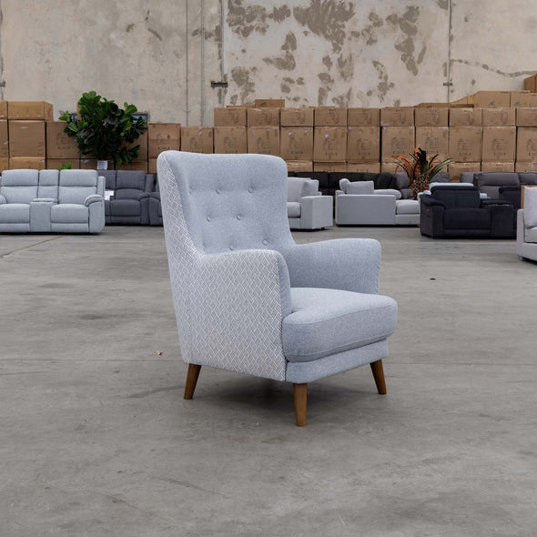 Zoe Accent Chair – Haze - Warehouse Furniture Clearance