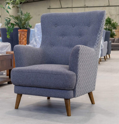 Zoe Accent Chair – Iron - Warehouse Furniture Clearance