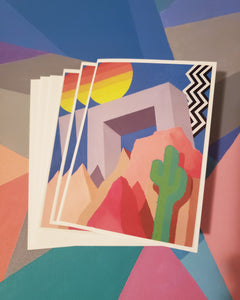 "3pc 5x7in. Greeting cards ""Lost Land"""