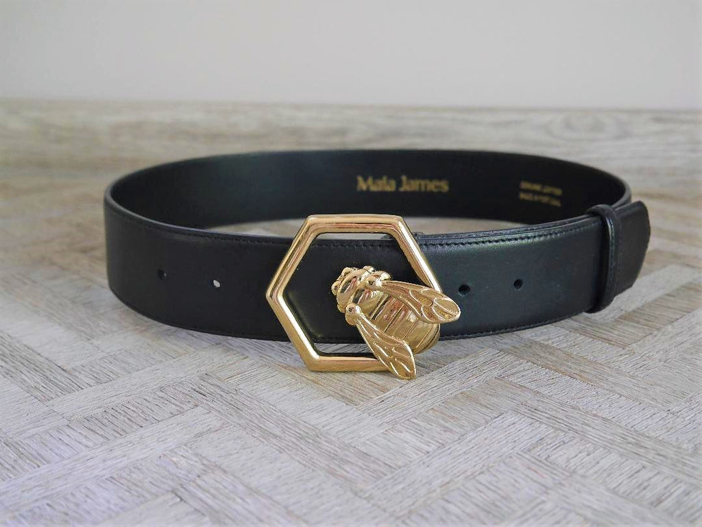 Honey-Bee leather belt