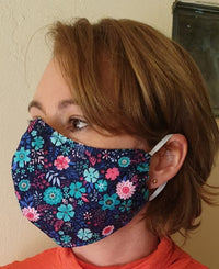Shaped Fabric Double Layer Face Masks  (Egyptian Cotton:  Sizes 3 yrs thru Adult)