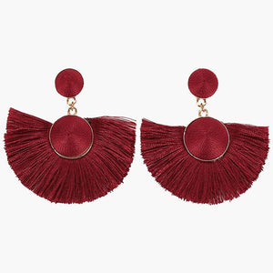Trendy Tassel Fan Earrings