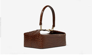 Square Alligator Box Bag