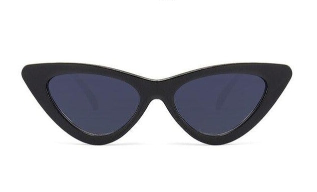 Load image into Gallery viewer, Bold Black Luxury Mirror Cat Eye Sunglasses