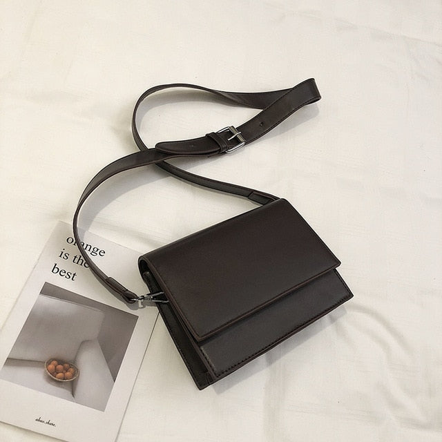 Load image into Gallery viewer, Black Square Crossbody Bag
