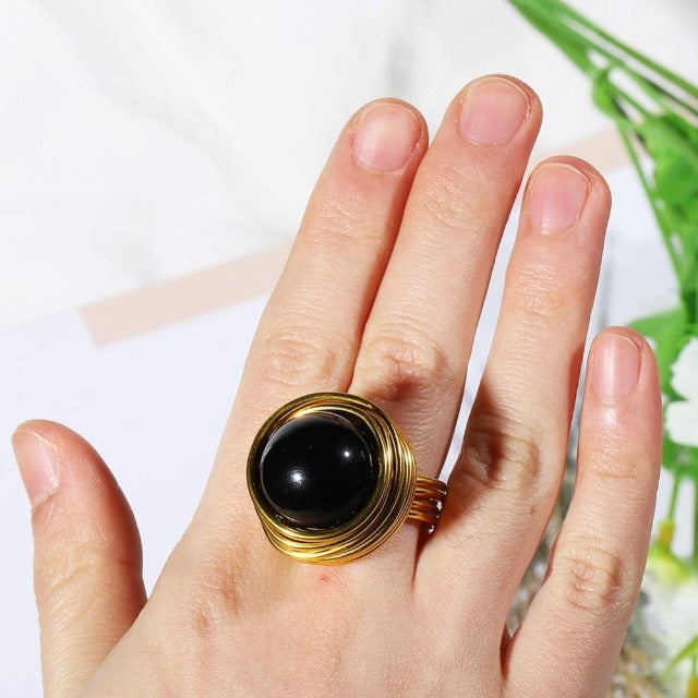Oversized Gold Promise Ring